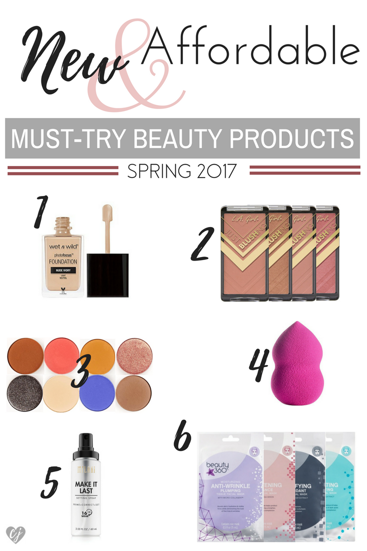 new affordable must-try beauty products spring