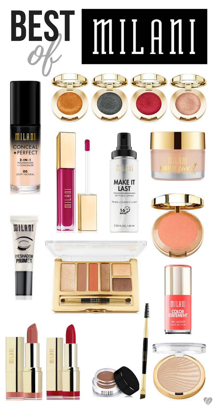 best Milani makeup products