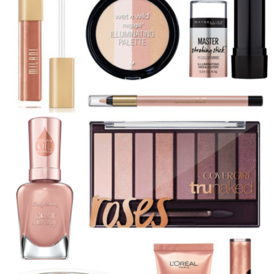 Rose Gold Drugstore Makeup Products