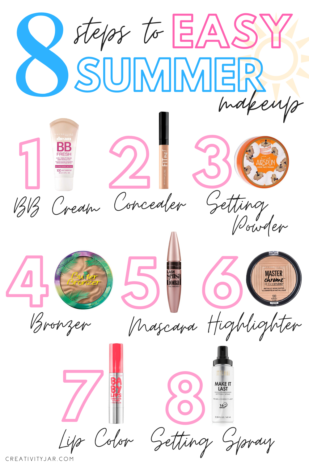 8 Steps To Easy Summer Makeup