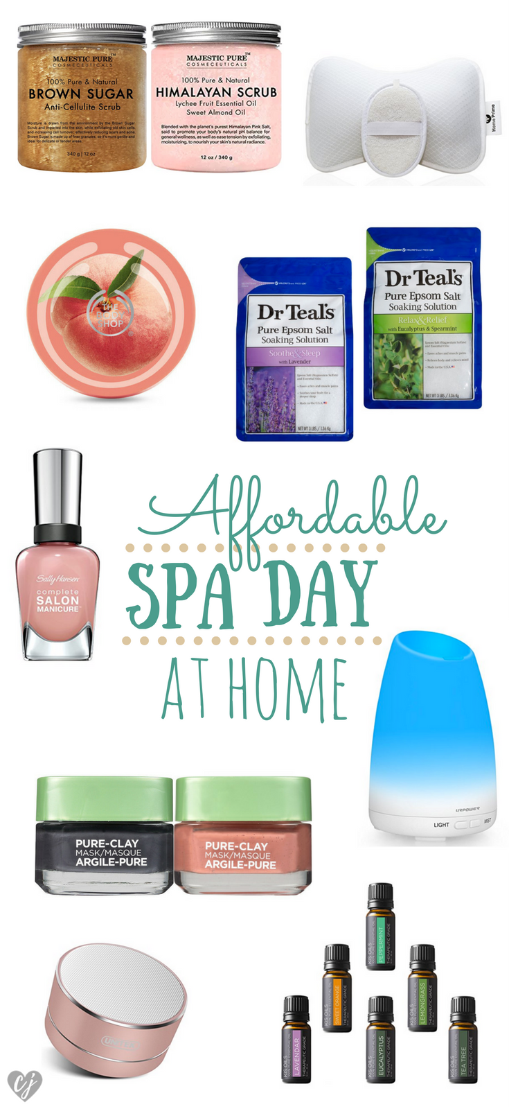 affordable spa day at home