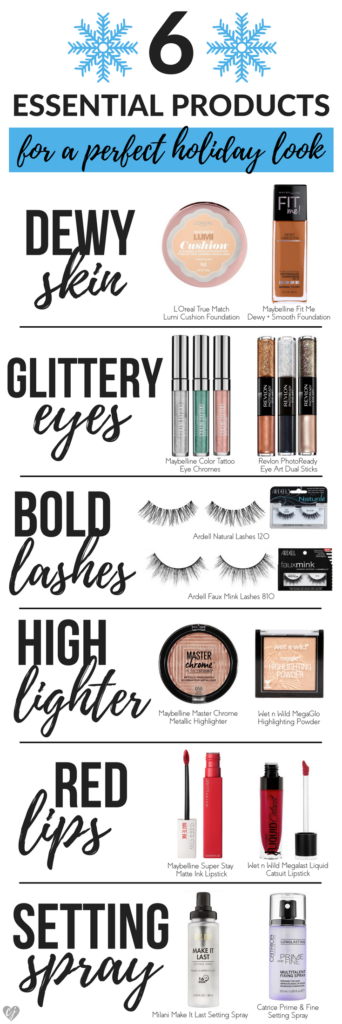 Create A Perfect Holiday Makeup Look From The Drugstore