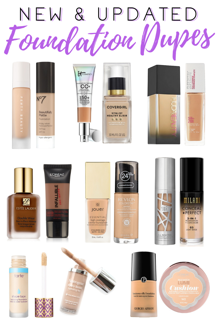 Drugstore Dupes Series Foundations