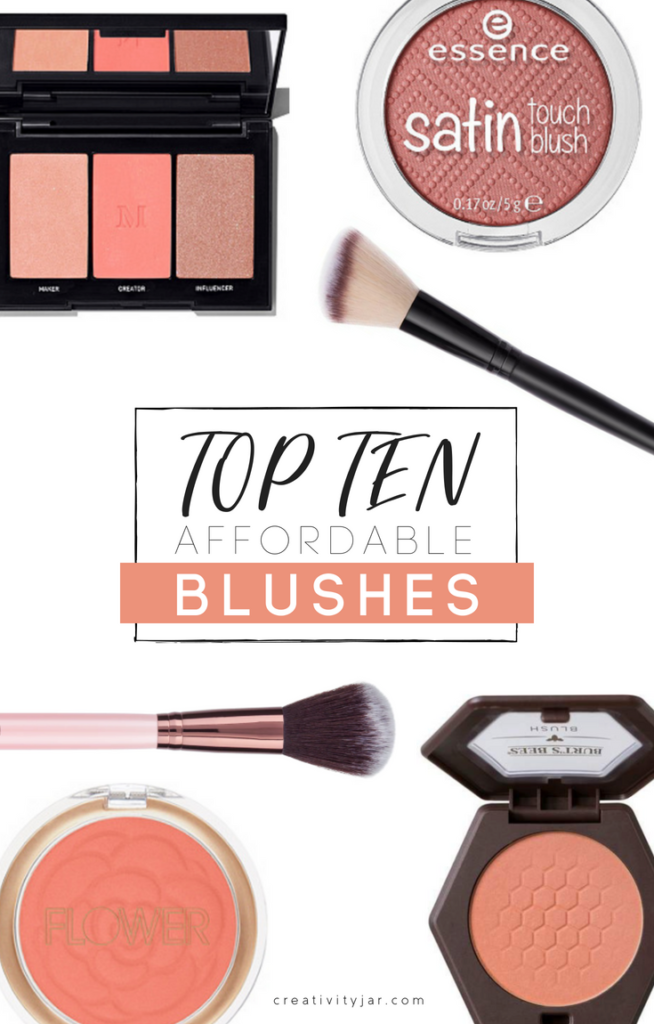 Top Ten Affordable Blushes