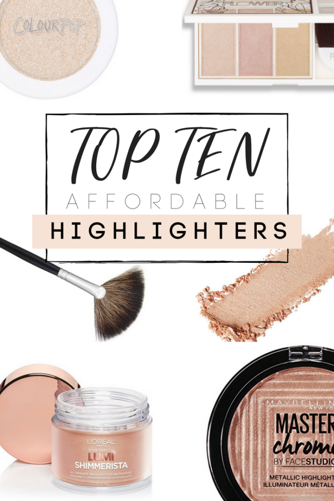 Top Ten Affordable Highlighters