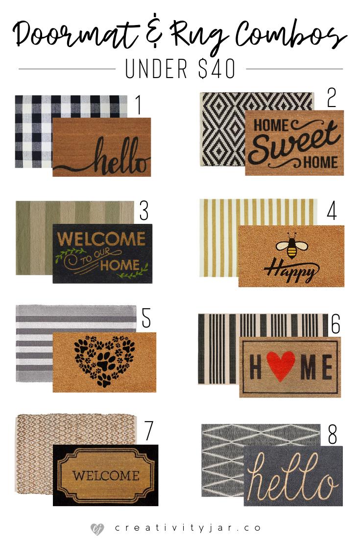 Modern Doormat & Rug Combos Under $40