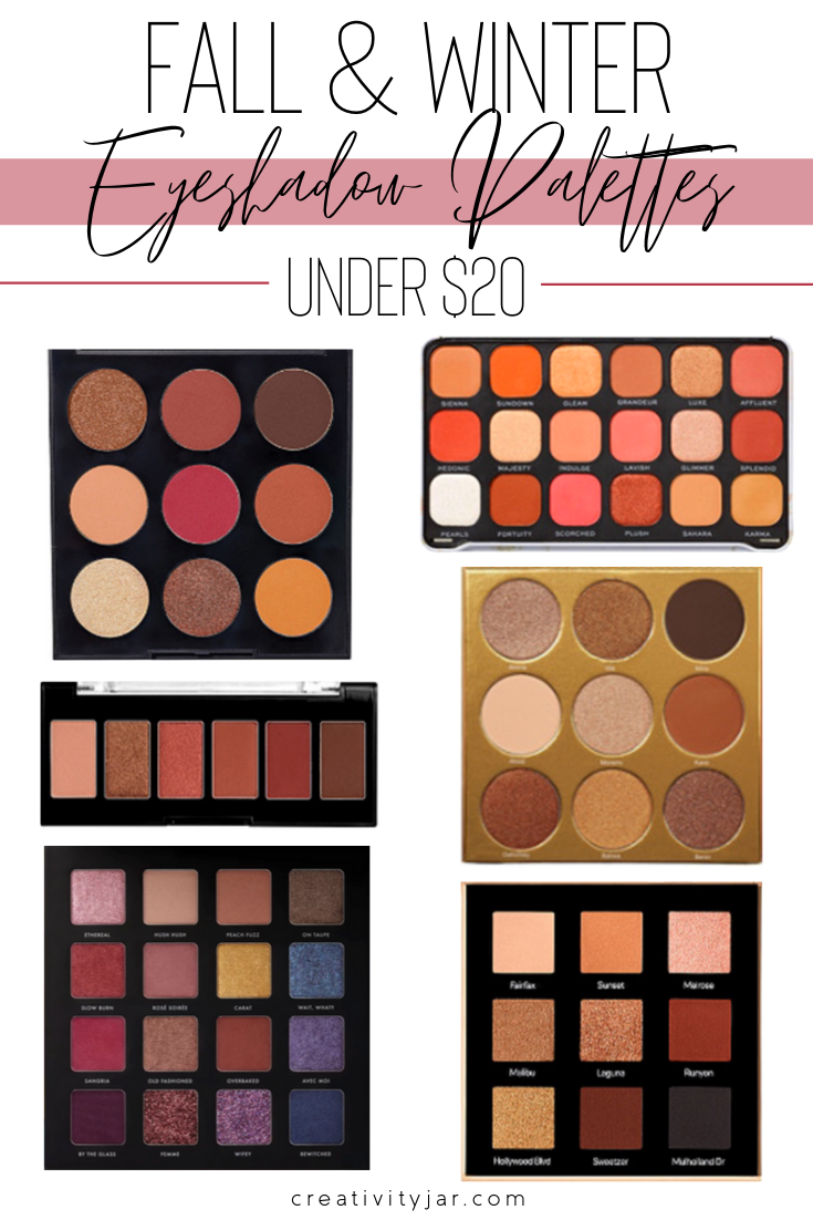 Fall Eyeshadow Palettes Under $20