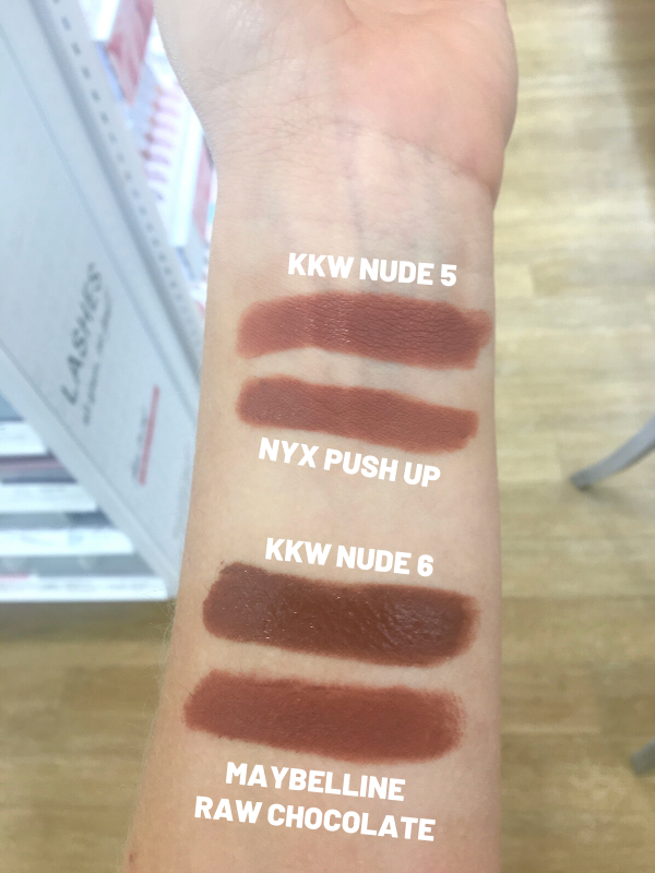 KKW Beauty Nude Creme Lipstick Dupes