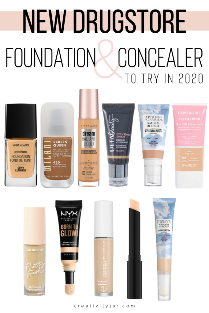 New Drugstore Foundations And Concealers