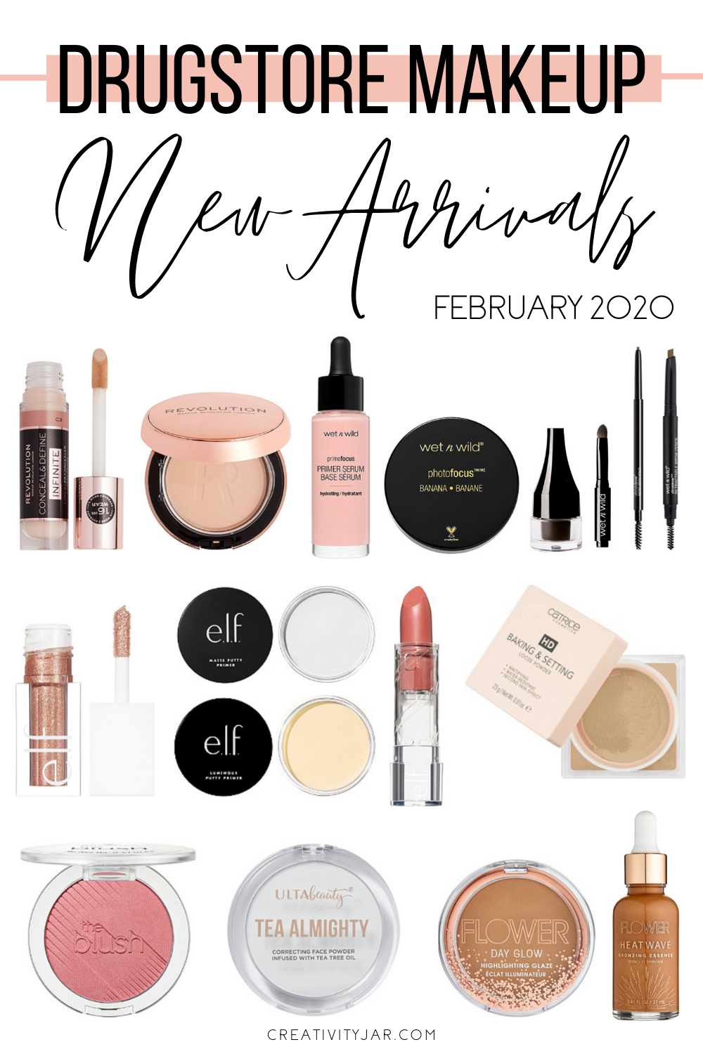 New Drugstore Makeup February 2020 Creativity Jar